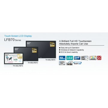 Panasonic LFB70W Series Interactive Displays (50'' / 65'' / 80'')