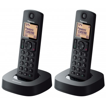 Digital Cordless Phone With 2 Handsets - KX-TGC312CXB (Black)