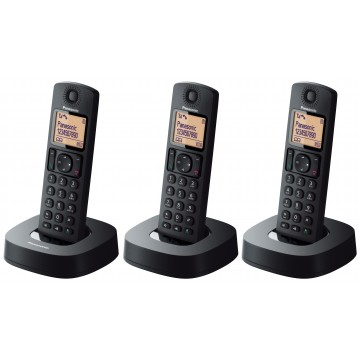 Digital Cordless Phone With 3 Handsets - KX-TGC313CXB (Black)